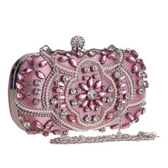 Delicate Crystal/ Rhinestone/Polyester Clutches/Luxury Clutches