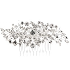 Ladies Classic Alloy Combs & Barrettes With Rhinestone (Sold in single piece)