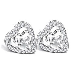 Shining Silver Plated Ladies' Fashion Earrings