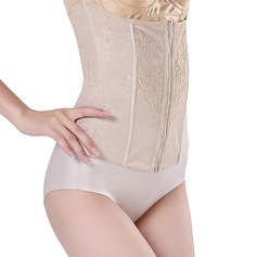 Women Feminine/Sexy Chinlon Breathability High Waist Waist Cinchers With Jacquard Shapewear