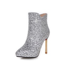 Women's Sparkling Glitter Stiletto Heel Ankle Boots shoes (088097110)