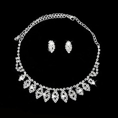 Elegant Alloy/Crystal Ladies' Jewelry Sets