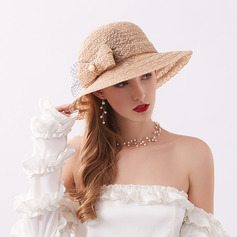 Damer' Klassisk stil/Elegant Spets med Bowknot Beach / Sun Klobúky/Kentucky Derby Hattar/Tea Party Hattar