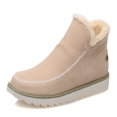 Stor størrelse Pure Color Warm Fur Fôr Vinter Ankel Snow Boots For Women