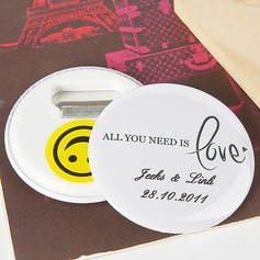 "Personalized ""All You Need is Love"" Plastic Bottle Opener/Fridge Magnet"