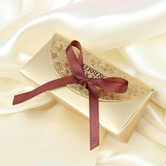 Classic Card Paper Favor Boxes With Ribbons