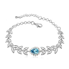 Gorgeous Alloy/Platinum Plated With Crystal Ladies' Bracelets