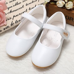 Jentas Lukket Tå Leather flat Heel Flate sko Flower Girl Shoes