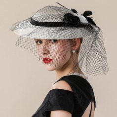 Ladies' Elegant/Eye-catching/Nice/Fancy Cambric With Tulle Fascinators/Tea Party Hats