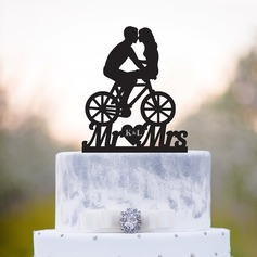 Personalized Classic Couple Acrylic/Wood Cake Topper