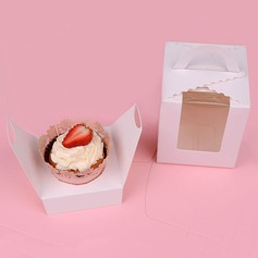 Lovely Basket Card Paper Favor Boxes & Containers/Cupcake Boxes