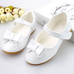 Girl's Round Toe Ballet Flat Leatherette Flat Heel Flats Flower Girl Shoes With Bowknot Velcro