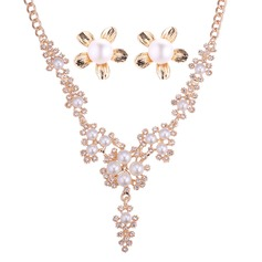 Alloy/Rhinestones/Imitation Pearls Ladies' Jewelry Sets