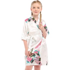 Charmeuse Flower Girl Floral Robes