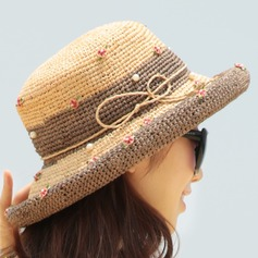 Ladies' Unique/Exquisite Raffia Straw With Bowknot Straw Hat
