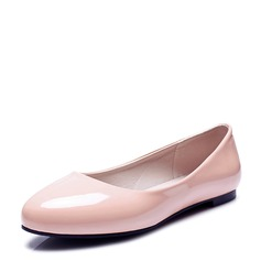 Women's Leatherette Flat Heel Flats Closed Toe shoes (086124734)