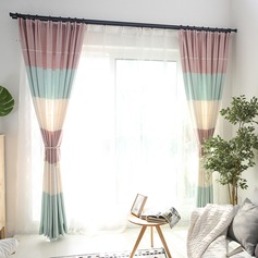 punch fixing,Stripe Window Decor Blackout Curtain ( Without Tulle )  (Sold in a single piece)
