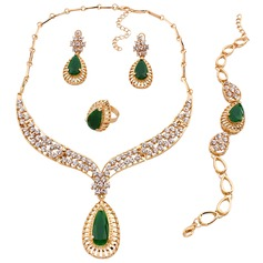 Unique Alloy/Resin/Zircon Ladies' Jewelry Sets