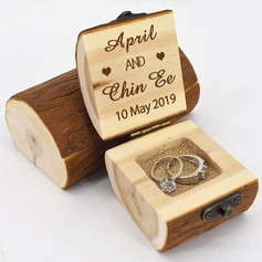 Personalized/Rustic Wood Ring Box (103206355)