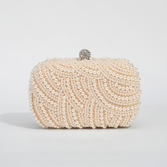 Gorgeous Satin/Pearl Clutches/Satchel (012028129)