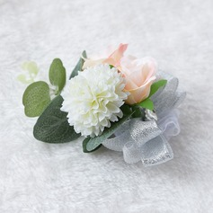 Satin/Lace Wrist Corsage (Sold in a single piece) -