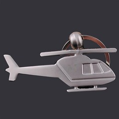 Personalized Helicopter shaped Zinc Alloy Keychains