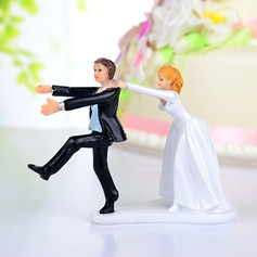 Funny & Reluctant Resin Wedding Cake Topper (122036192)