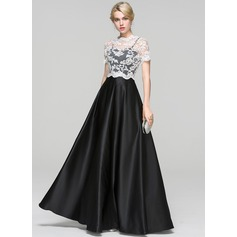Ball-Gown Sweetheart Floor-Length Satin Evening Dress