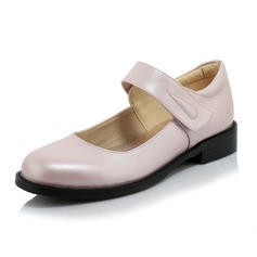 Women's Leatherette Low Heel Flats Closed Toe With Velcro shoes
