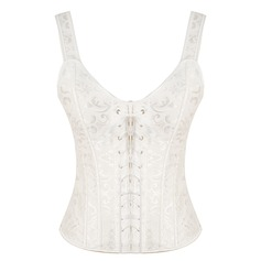 Women Honeymoon/Classic Polyester Waist Cinchers With Jacquard Shapewear