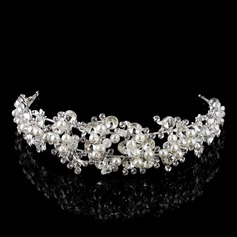 Gorgeous Rhinestone/Alloy/Imitation Pearls Tiaras With Rhinestone/Venetian Pearl (Sold in single piece)