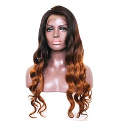5A Virgin/remy Body Wavy Human Hair Full Lace Cap Wigs