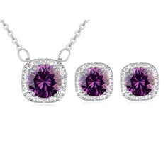 Shining Alloy Zircon Ladies' Jewelry Sets