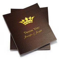 Personalized Crown Design Paper Thank You Cards