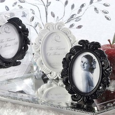 Elegant Round Resin Place Card Holders/Photo Frames
