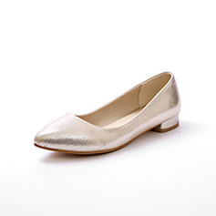 Women's Cloth Flat Heel Flats Closed Toe shoes (086094934)