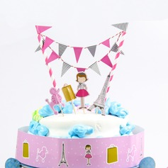 Fashion Girl Paper Cake Topper