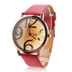 Fashional Leatherette Metal Ladies' Watches