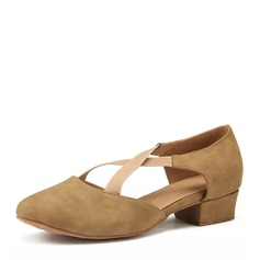 Women's Nubuck Heels Practice Dance Shoes (274207834)