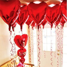 10pcs - 10inch Red Heart Shaped Balloons  (131147244)