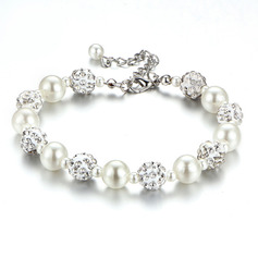 Ladies' Stylish Rhinestones/Imitation Pearls Bracelets