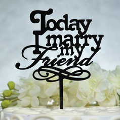 """Marry Me"" Acrylic Cake Topper"