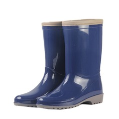 Women's PVC Low Heel Boots Mid-Calf Boots Rain Boots With Split Joint shoes