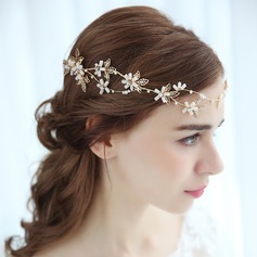 Ladies Eye-catching Alloy Headbands With Rhinestone (Sold in single piece)