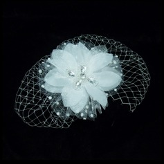 Artificial Silk/Net Yarn Fascinators With Rhinestone