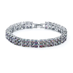 Exquisite Platinum Plated With Zircon Ladies' Fashion Bracelets