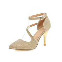 Women's Leatherette Stiletto Heel Pumps Closed Toe shoes (085094862)