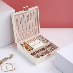 Bride Gifts - Attractive Delicate Wooden Leather Jewelry Holder