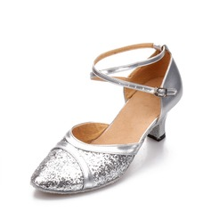 Women's Leatherette Sparkling Glitter Ballroom Dance Shoes