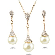 Fashional Alloy Rhinestones Pearl Ladies' Jewelry Sets (137133516)